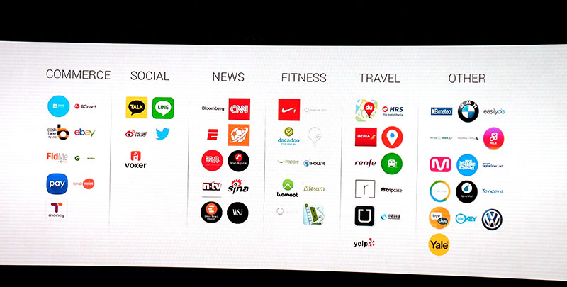 Just some of the apps that will be available for the Gear S2 at launch.