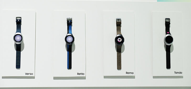 The Gear S2 Sport only takes Samsung's own straps, but there will be plenty of options available.