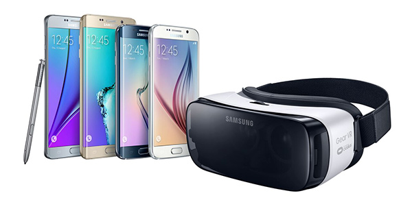 The US$99 Gear VR will support Samsung's entire 2015 line-up of phones, including the Galaxy Note 5, S6, S6 edge and S6 edge+. (Image Source: Samsung)