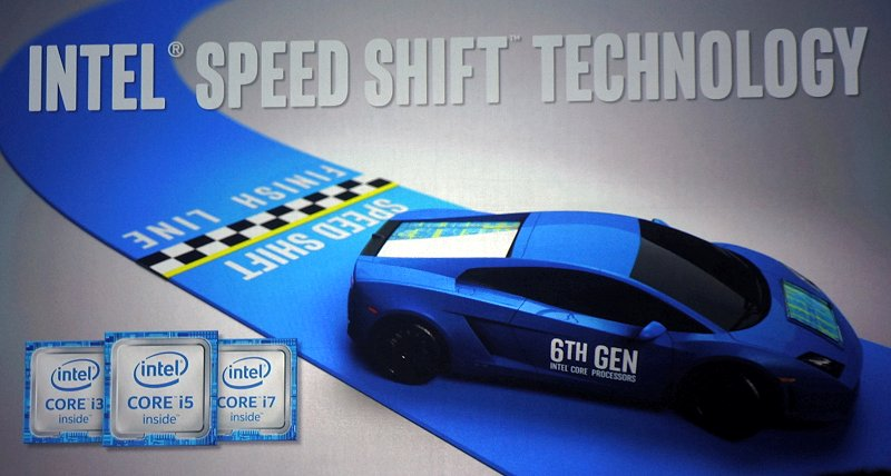 Intel's Speed Shift technology is a new exciting feature in the realm of power-performance efficiency.