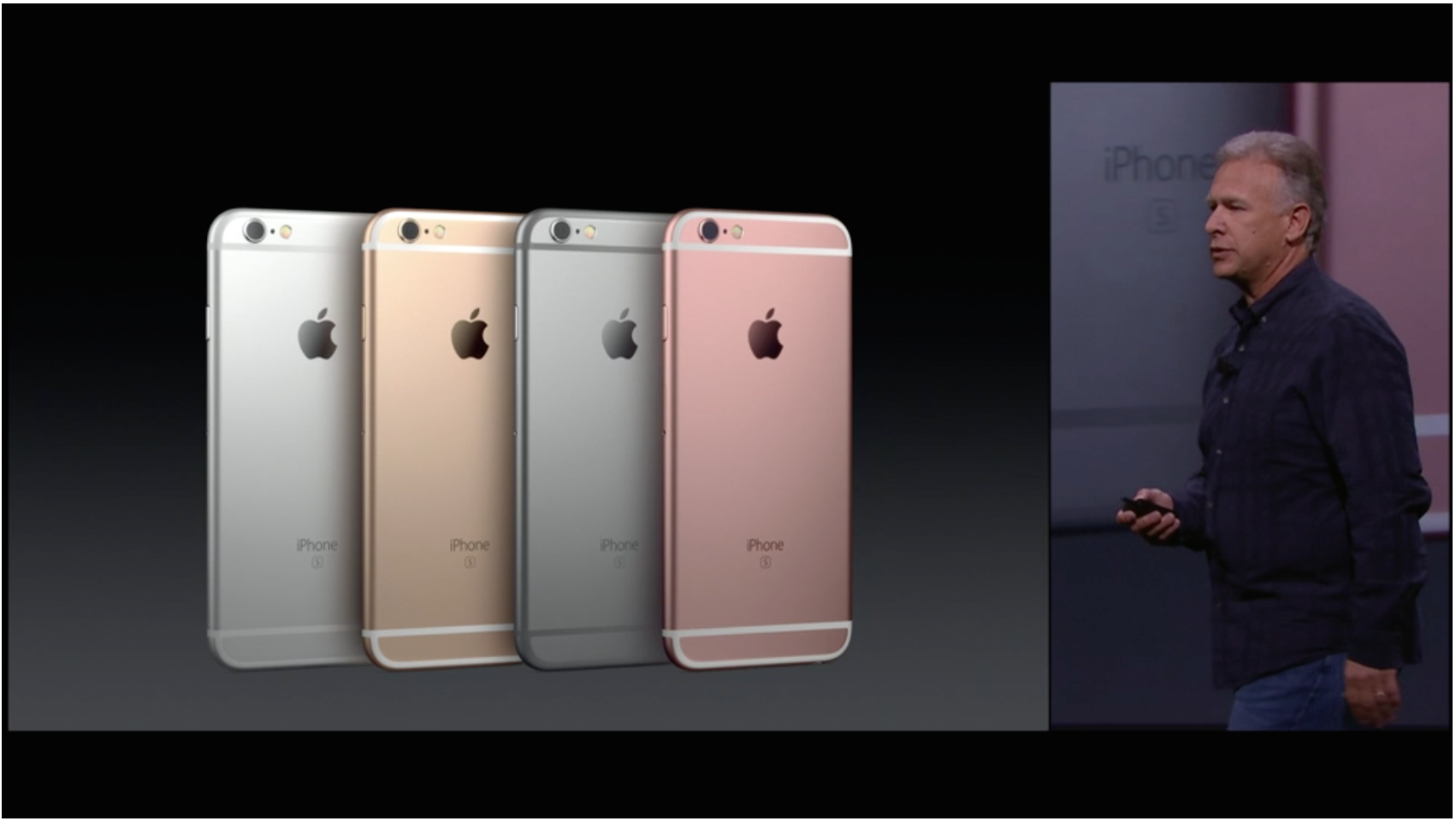 Silver, Gold, Space Grey, and all new Rose Gold for the latest iPhone 6s series.