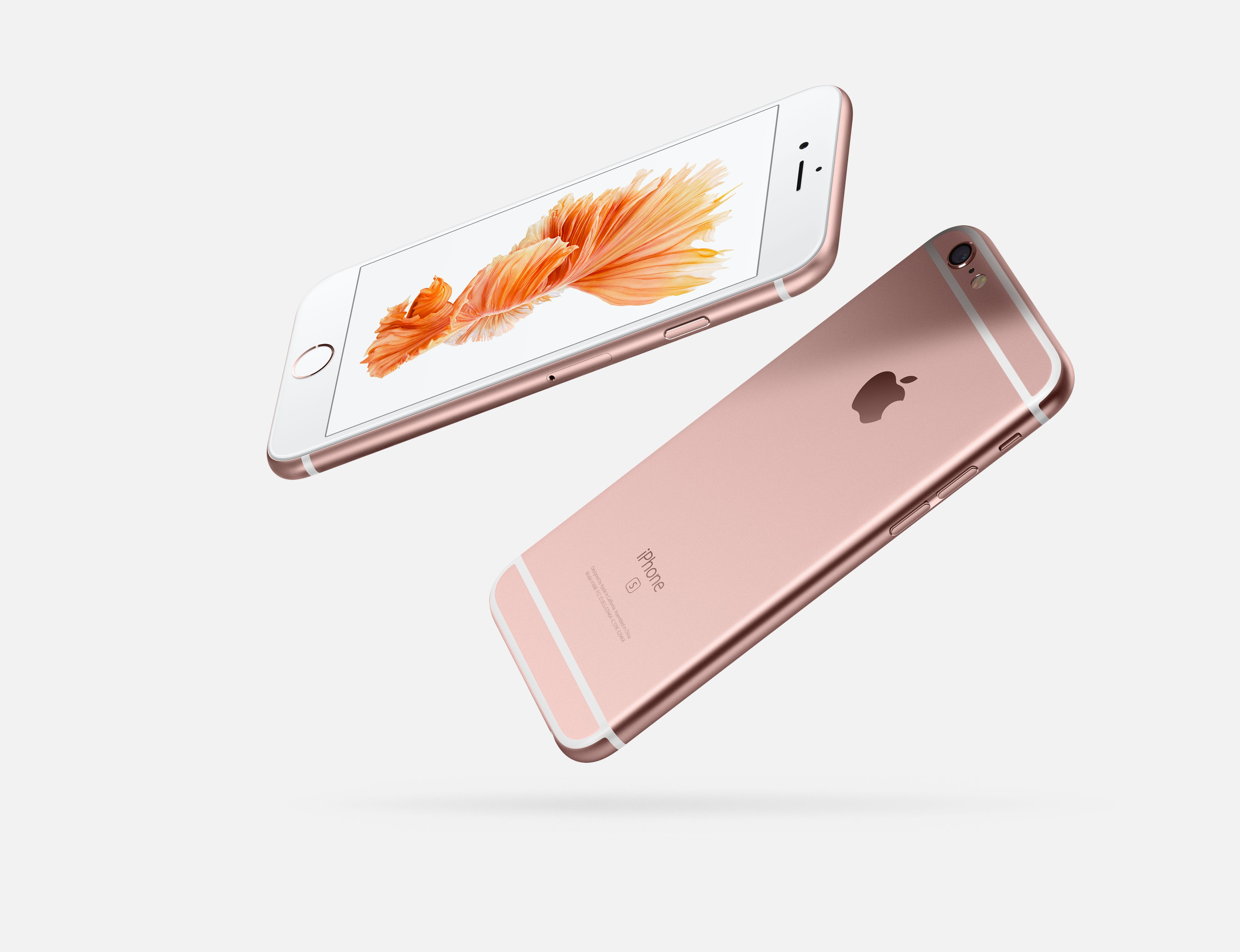 The new Rose Gold iPhone 6S.