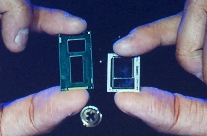 Left: Broadwell Core M package, Right: Skylake Core M package.