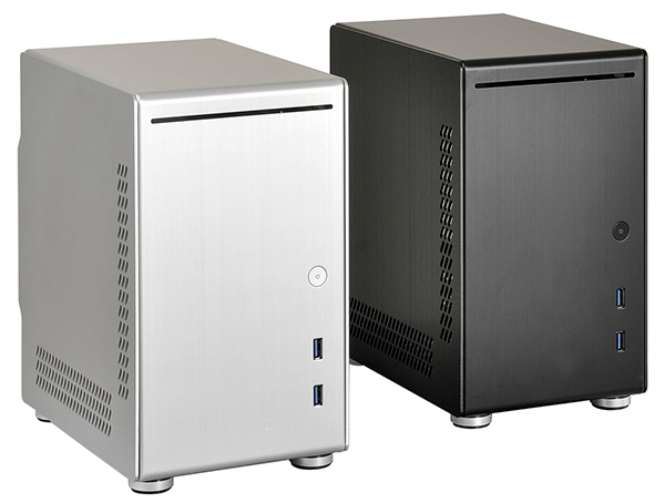 The Lian Li PC-Q21 is available in both black and silver. (Image Source: Lian Li)