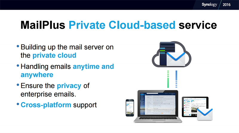 Synology's MailPlus is a private cloud-based email service. (Image Source: Synology)