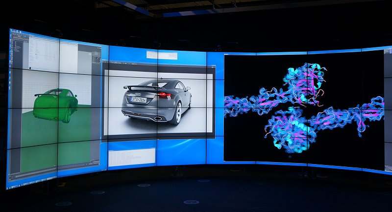 The Audi engineering demo was powered by a single Dell workstation node outfitted with the new NVIDIA Quadro M4000 graphics cards and was fairly fluent in rendering the model quickly even when changes to the view or alterations were performed to the model.