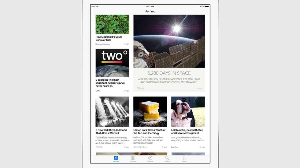 The new News app by Apple, available in iOS 9, allows curated content from selective publishers (and possibly ad revenue options in a controlled fashion).