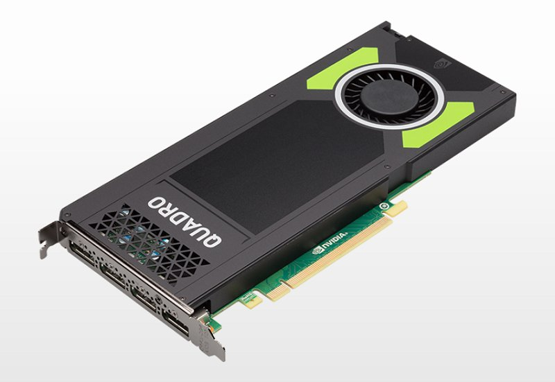 Meet the workstation equivalent of the GeForce GTX 970 - the Quadro M4000. However, the M4000 is a more refined product with slightly lower clocks and more importantly a lower TDP that enabled it to debut in a singles-slot form factor. Oh and it also has a massive 8GB GDDR5 framebuffer.