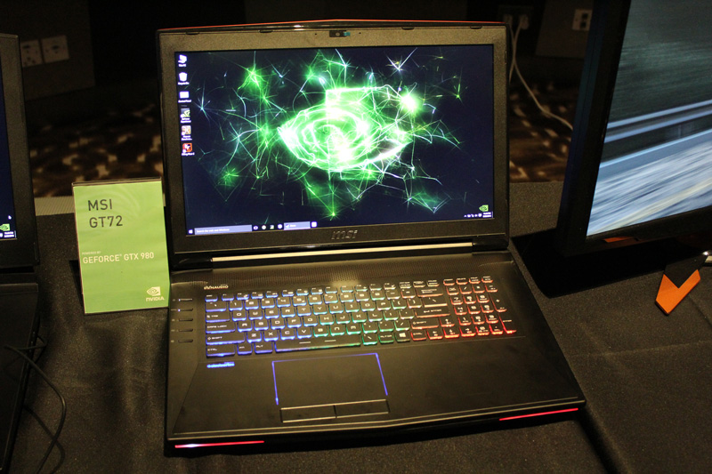 Unlike the Aorus X7 DT, the MSI GT72 on display looked similar to the MSI GT72S 6QE Dominator Pro G. There wasn't anything new that we noticed.