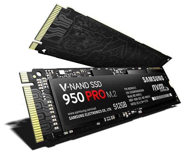 Novo Samsung 950 Pro SSD