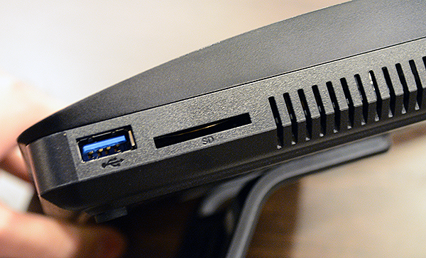 The Synology RT1900ac has an SD card slot, which is unusual feature for routers. It will, however, allow users to quickly share photos that have been taken from a camera.