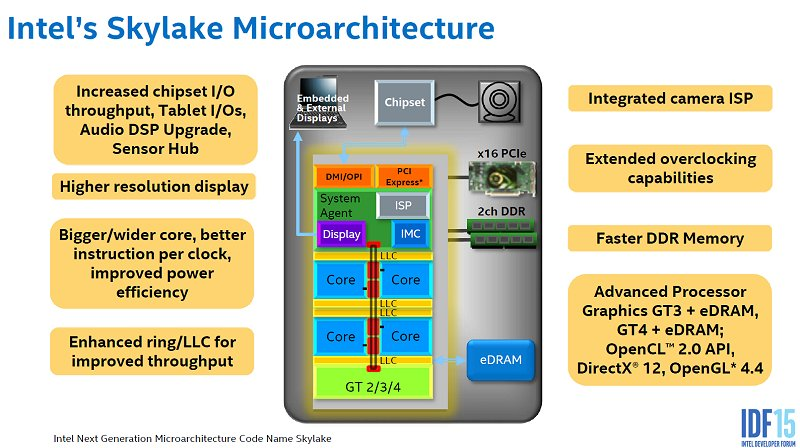 In a big picture overview, here's the Skylake microarchitecture in a nutshell.