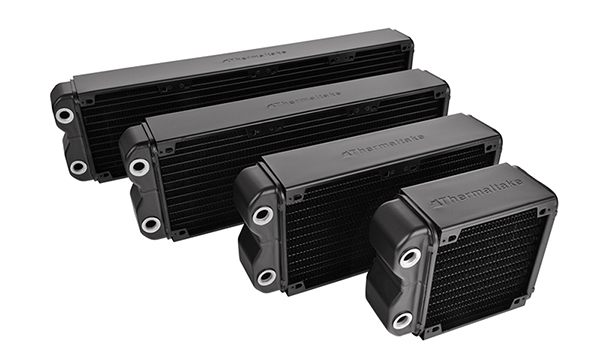 Pacific RL radiators are 50mm thick. (Image Source: Thermaltake)