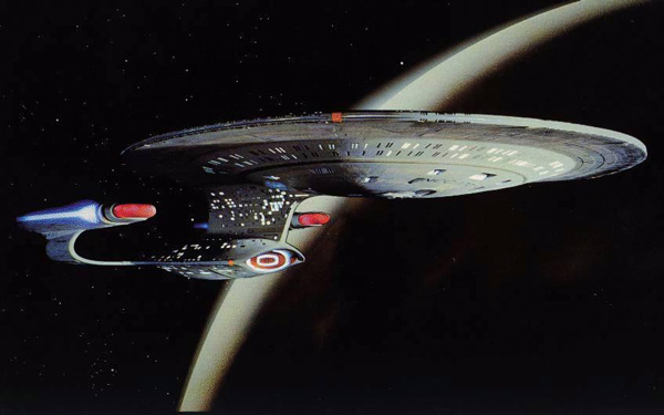 The USS Enterprise-D was first introduced in the Star Trek: The Next Generation TV series.
