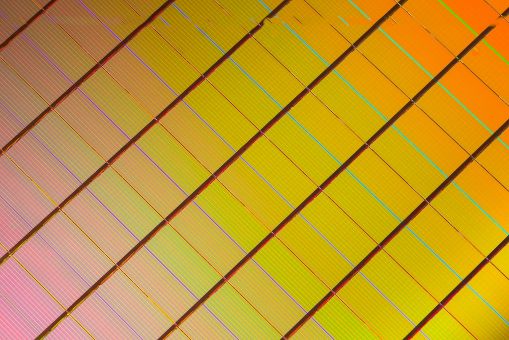 The 3D XPoint wafer (Image source: Intel)