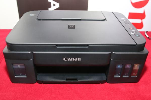 The PIXMA G series' range-topping G3000 inkjet printer.