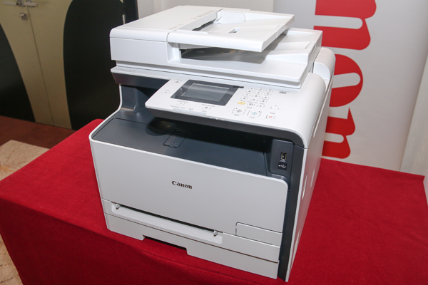Canon's no-nonsense imageCLASS MF628Cw Color Multi-Function laser printer.