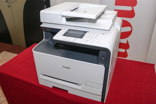 Canon's no-nonsense imageCLASS MF628Cw Color Multi-Function laser printer.