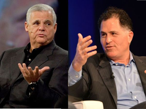 (L to R)  Joe Tucci, Chairman and Chief Executive Officer of EMC and  Michael S. Dell, Founder, Chairman and Chief Executive Officer of Dell, MSD Partners and Silver Lake. Image source: Re/Code