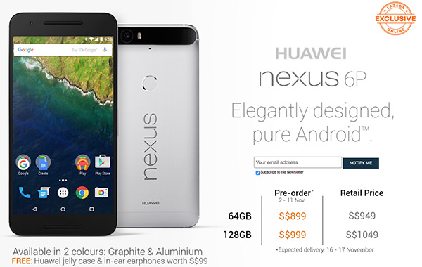 huawei nexus 6p. lazada to begin taking pre-orders for the huawei nexus 6p on november 2 6p