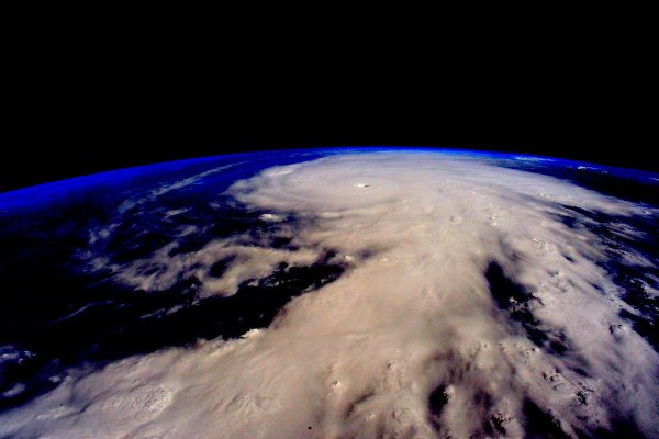 This is a picture of Hurricane Patricia... <br> Image source: Scott Kelly / Twitter.