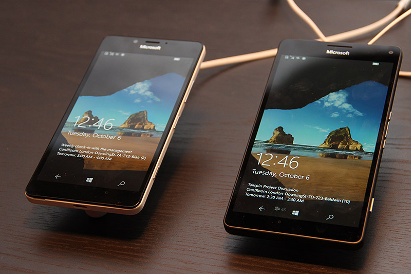 Seen here are the Microsoft Lumia 950 and Lumia 950XL.