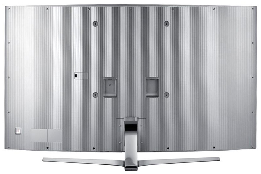 The shirring pattern on the JS9000 starts at the side of the TV and covers the entire back.