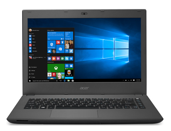 The Aspire E series come in 14-inch and 15.6-inch varieties. The one in the image is a 15.6-inch machine.