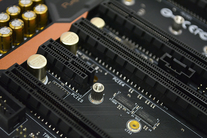 The PCIe 3.0 x1 slot will take even full-length add-in cards because of its open design.