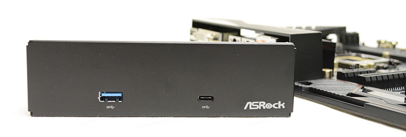 The bundled USB 3.1 front panel adds extra USB 3.1 Type-A and Type-C ports.