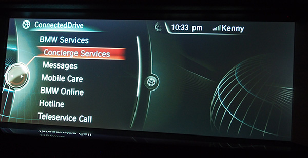 Concierge Services is arguably the most interesting feature of ConnectedDrive. It gives you a personal assistant in your car.