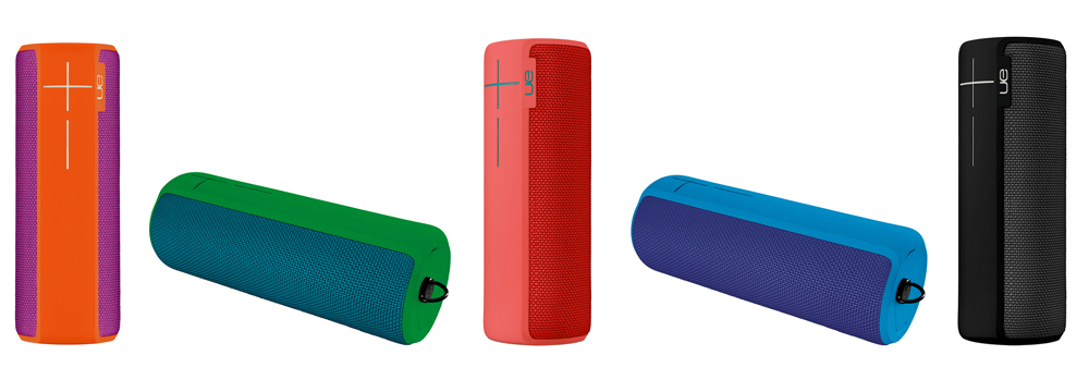 Five new colors for the UE Boom 2 bluetooth speakers. We think it's nearly impossible to lose them in the snow or haze.