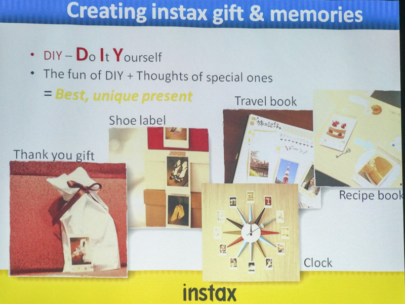 Instax polaroids lend themselves well to DIY projects.