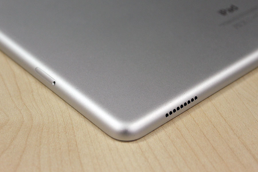 Speaker grilles are located at all four corners of the iPad Pro.