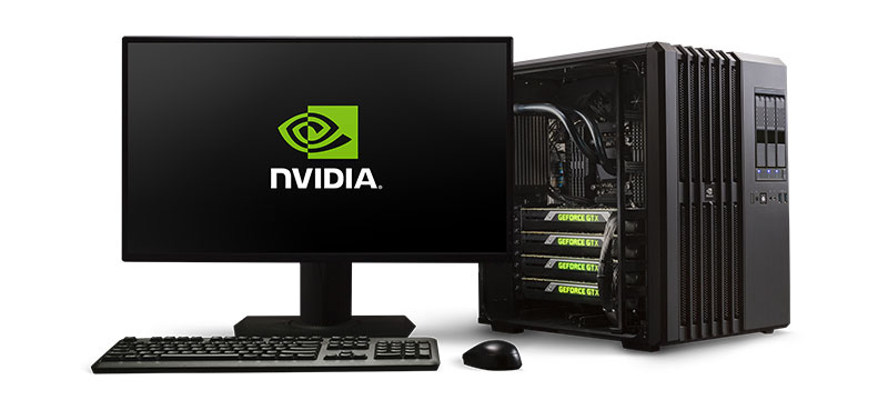 The NVIDIA DIGITS DevBox is powered by four GeForce GTX Titan X GPUs. (Image Source: NVIDIA)