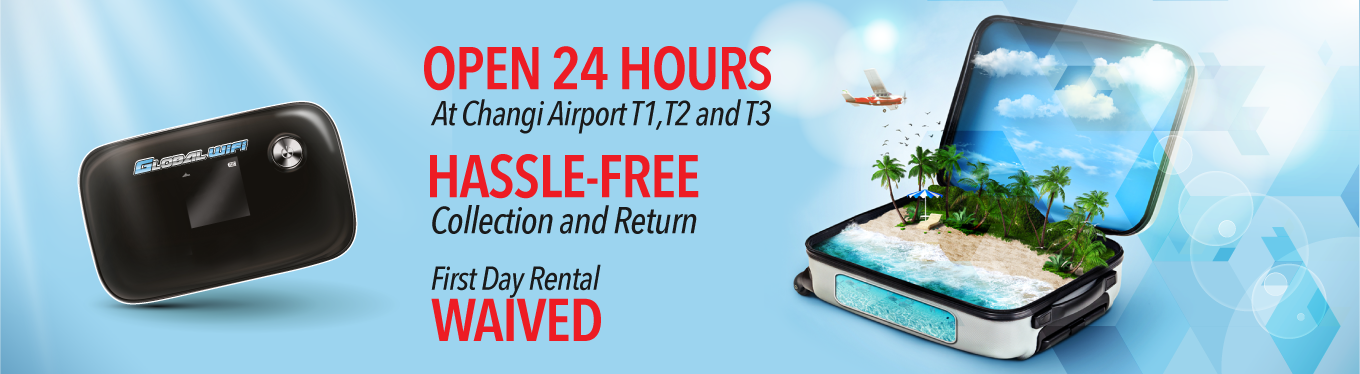 Oversea portable Wi-Fi router rental