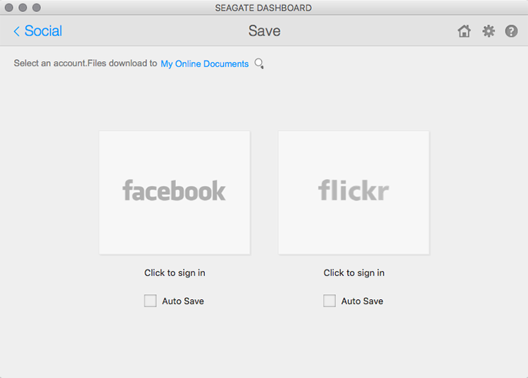 It can automatically backup your Facebook and Flickr accounts.