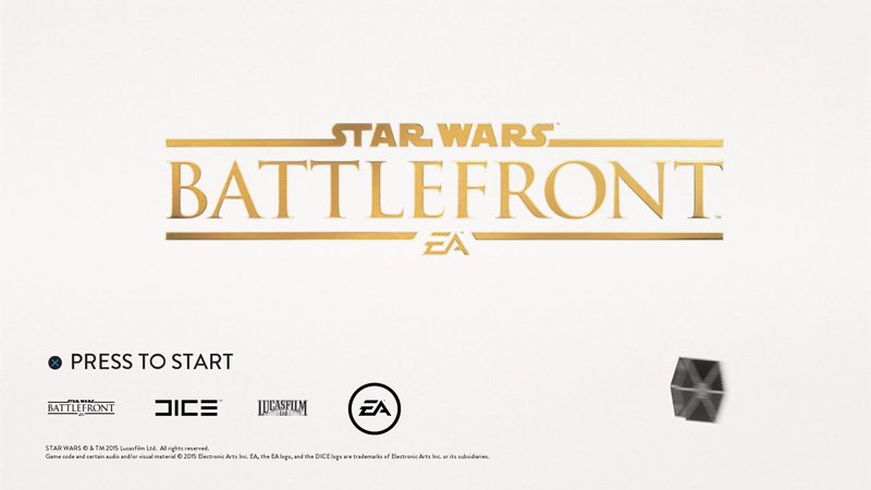 An elegant title screen, for a more civilized age.