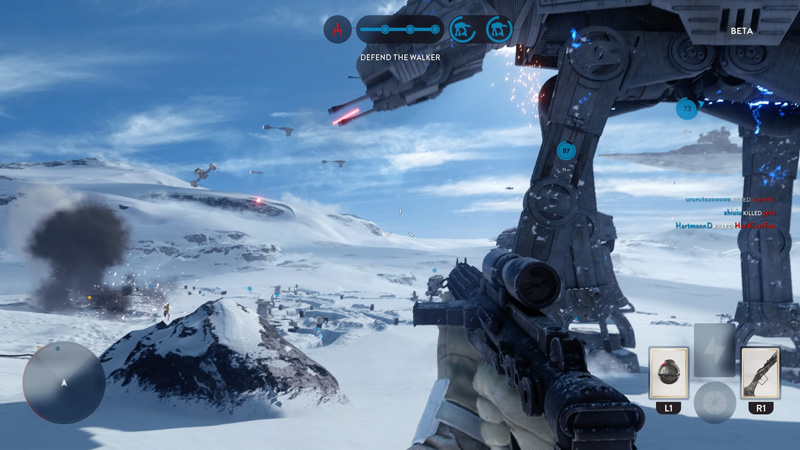 In all our matches in Walker Assault, the Rebels have never won a single battle. It's definitely much harder being a Rebel on Hoth than an Imperial.