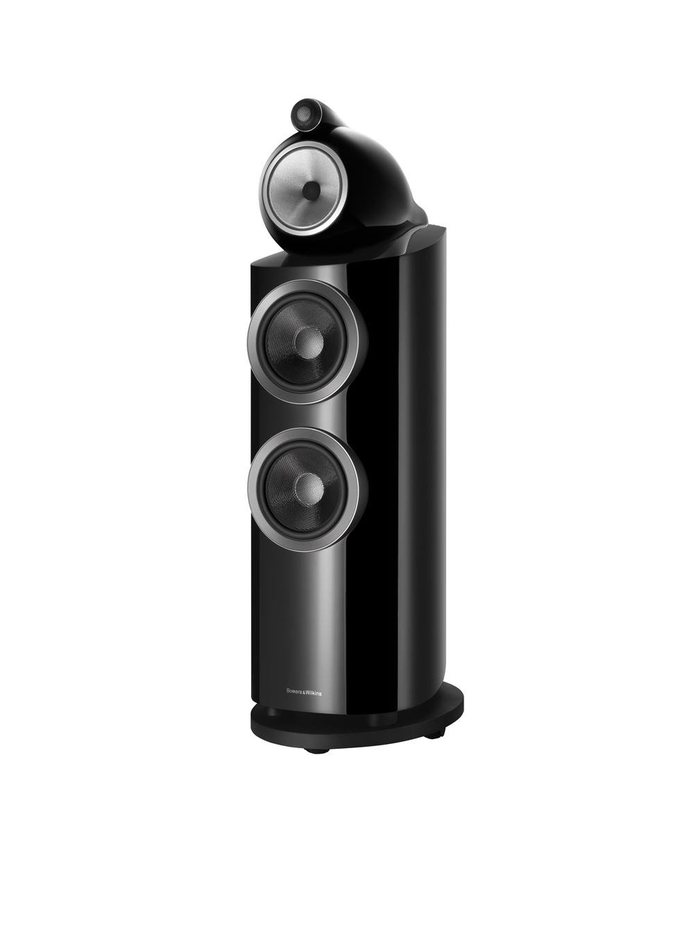 The luxury audio towers also come in black.