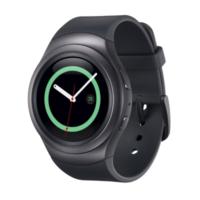 The Samsung Gear S2 in Dark Gray. <br> Image source: Samsung Malaysia.