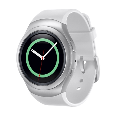The Samsung Gear S2 in Silver. <br> Image source: Samsung Malaysia.