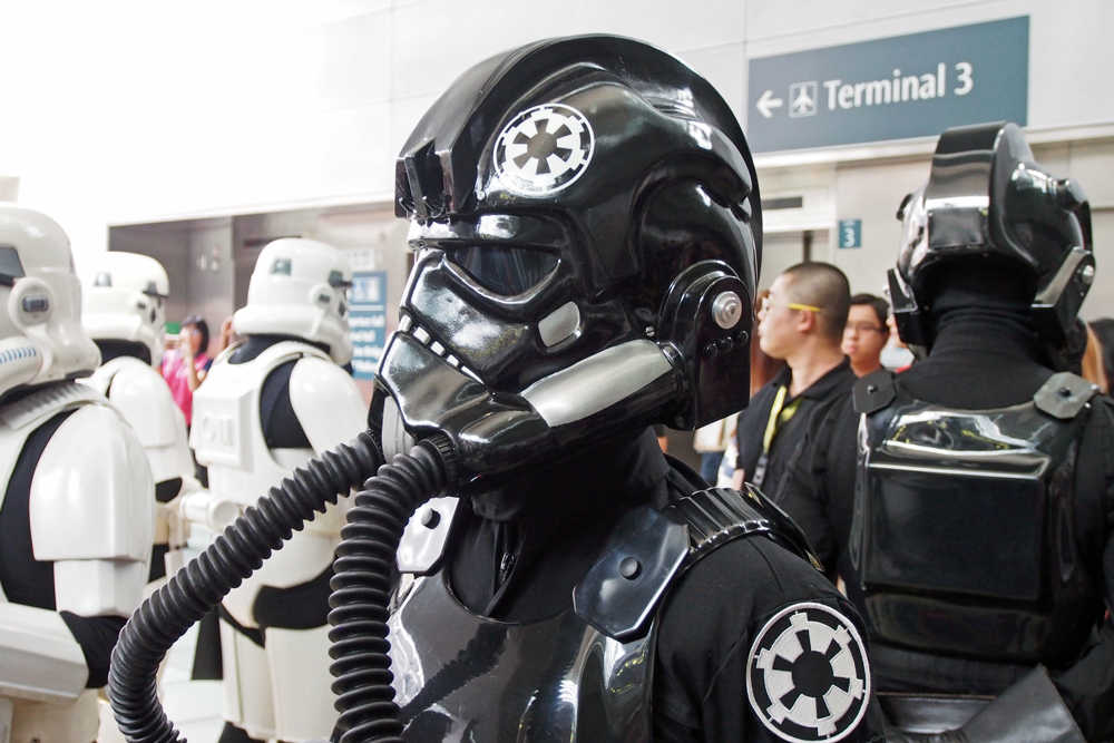 Up close with an First Order TIE fighter pilot.