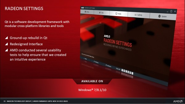 AMD bids farewell to Catalyst Drivers, introduces Radeon Software