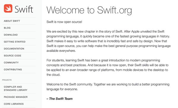 Image source: Swift Blog