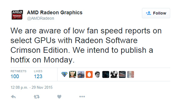 AMD's new Crimson Edition driver causing fan speed issues for