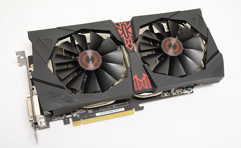 The card uses ASUS' DirectCU II cooler to keep cool.