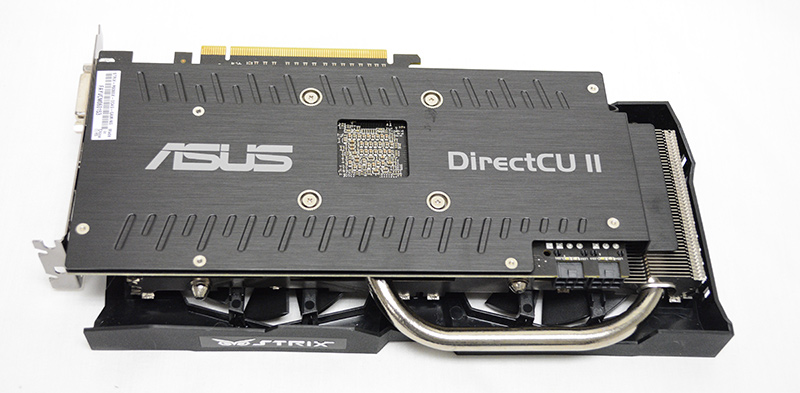 The card features a metal backplate for additional support.