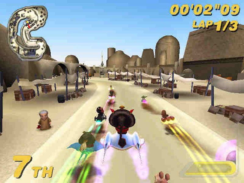 Forget bombad, Star Wars Super Bombad Racing is just plain bad.