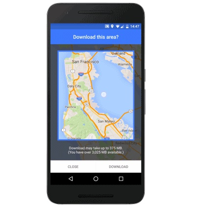 Google Maps for Android now allows for offline navigation